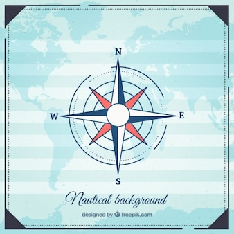 Nautical background with cardinal points