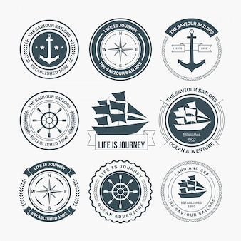 Nautical badges design