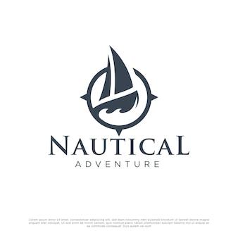 Nautical boat logo