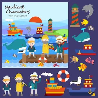 Nautical characters