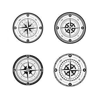 Nautical compass vector