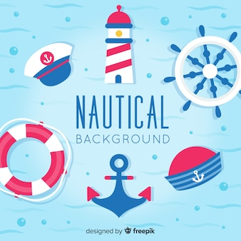 Nautical elements background