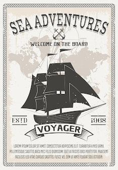 Nautical grey poster