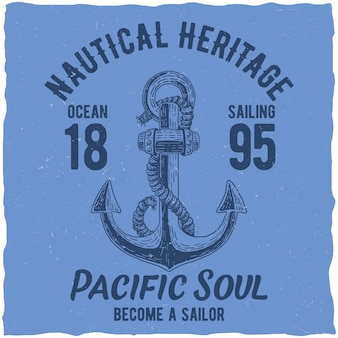 Nautical heritage poster