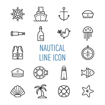 Nautical line icon