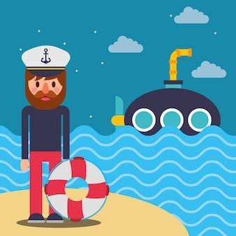 Морской морской дизайн