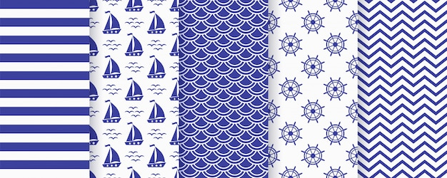 Nautical monochrome  seamless pattern.  illustration. marine backgrounds.