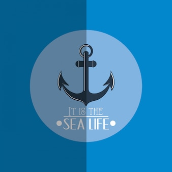 Nautical sea life related icons image