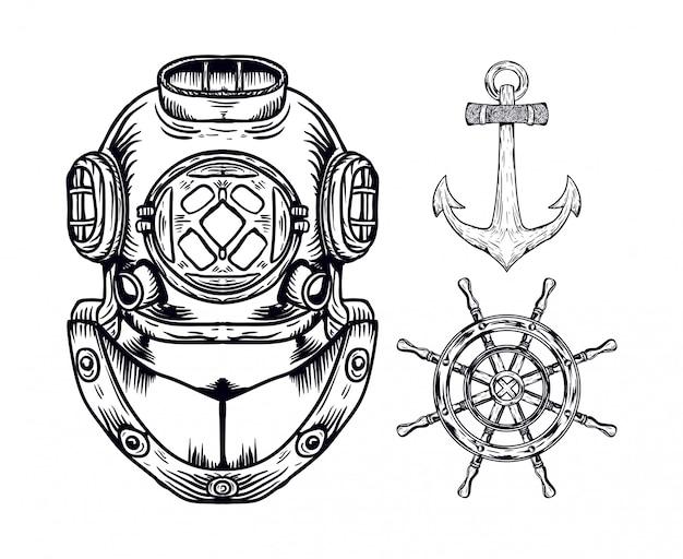 Nautical set pack illustration