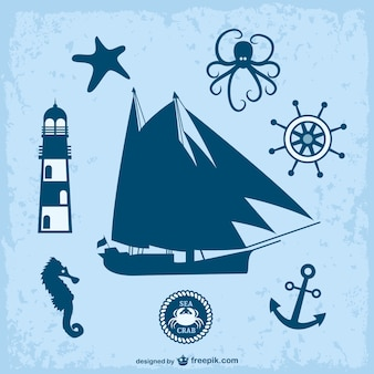 航海をテーマに、グラフィックスベクトル