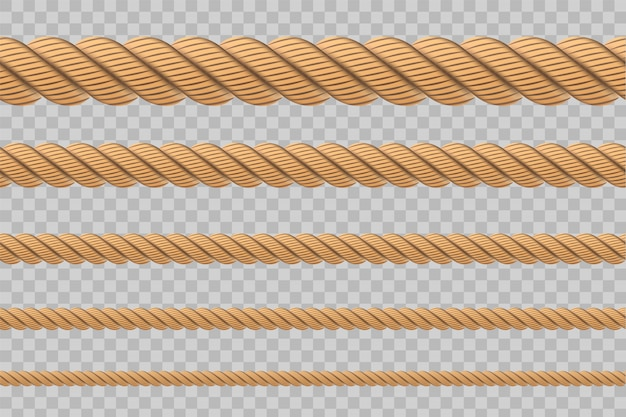 Nautical twisted rope knots, loops.