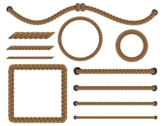 Nautical twisted rope knots