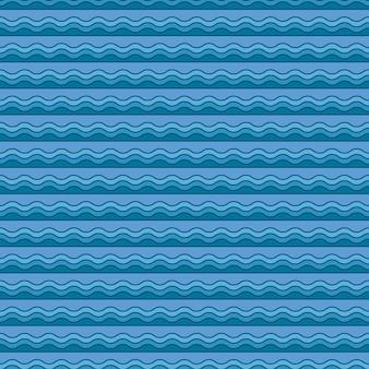 Nautical waves pattern. abstract geometric background. elegant and luxury style illustration