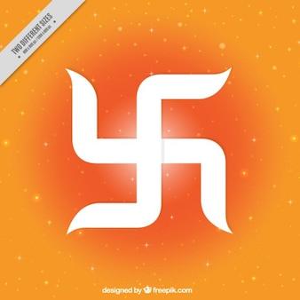 幸運のシンボルラムnavami祭りのオレンジ色の背景