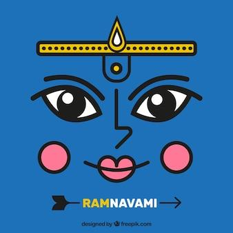ラムnavami青色の背景