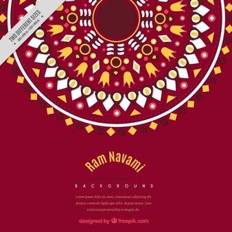 幾何学的な装飾用のラムnavamiの背景