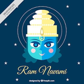 フラットデザインのラムnavamiの背景