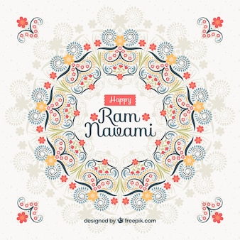 ラムnavamiのお祝いのための花の背景