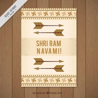 矢印付きのラムnavamiグリーティングカード