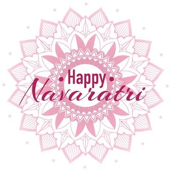 Navaratri greeting with mandala
