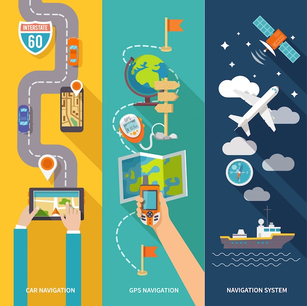 Navigation banner set