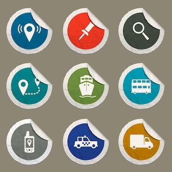 웹 사이트 및 사용자 인터페이스에 대해 설정된 탐색 아이콘