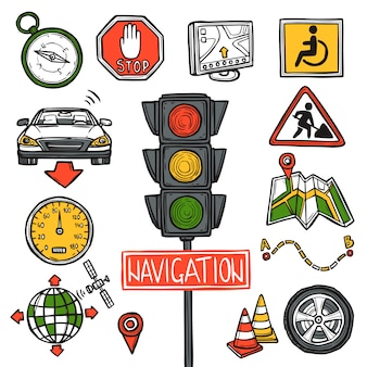 Navigation icons sketch