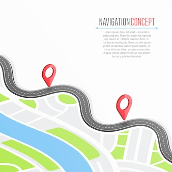Navigation  with pin pointer