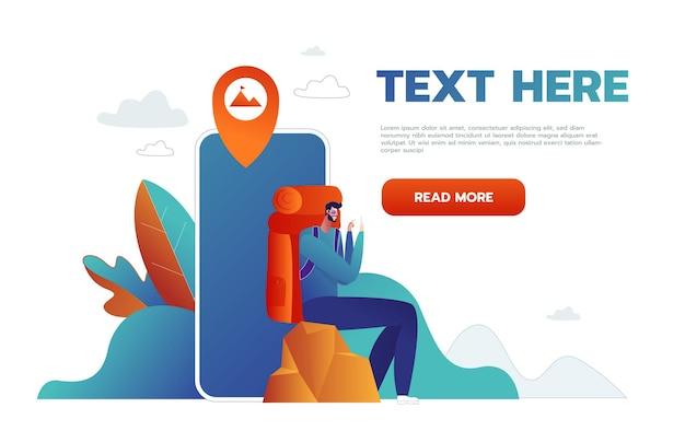 Navigation on your smartphone. Premium Vector