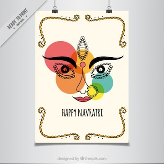 Navratri abstract poster with colored circles