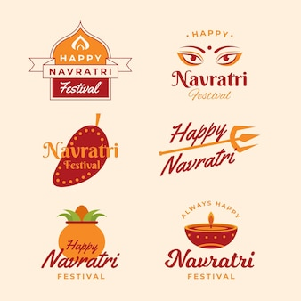 Navratri badges pack
