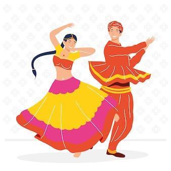 Navratri dancers couple