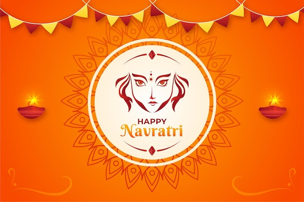 Navratri flat design background