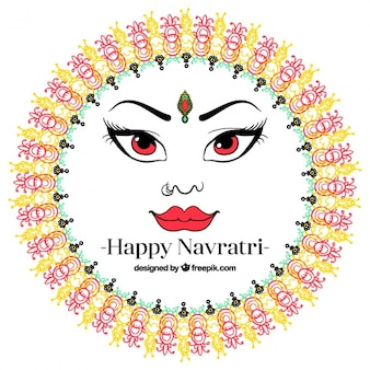 Navratri greeting background