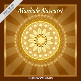 Navratri ornamental mandala background