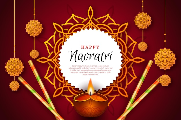 Navratri realistic traditional background