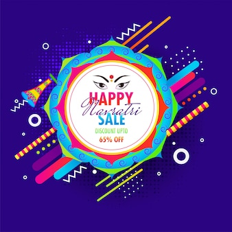 Navratri sale with 65% discount offer poster
