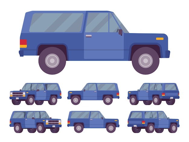 Navy blue offroad set