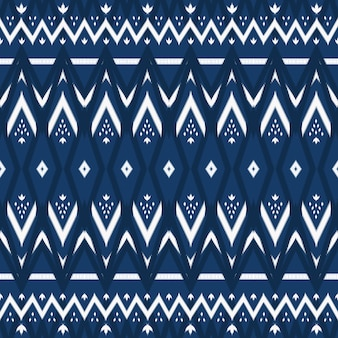 Navy blue tone asian ethnic geometric oriental ikat seamless traditional pattern. design for background, carpet, wallpaper backdrop, clothing, wrapping, batik, fabric. embroidery style. vector
