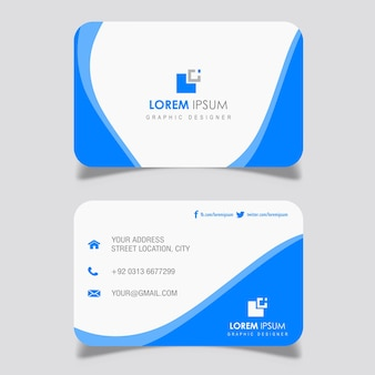 Navy Blue Wavy Business card Designs