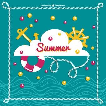 Лето море векторное изображение