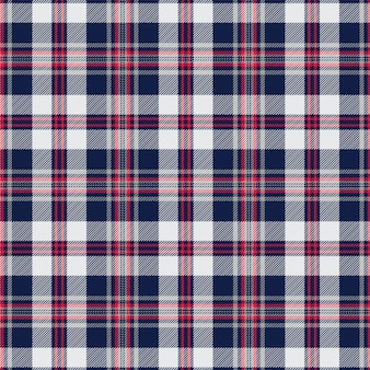 Navy and white tartan plaid scottish pattern
