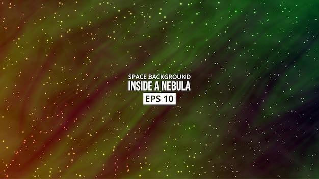 Nebula with stars background