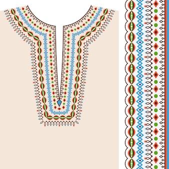 Neckline ethnic print design