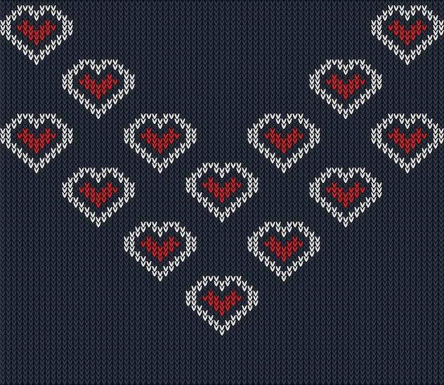 Neckline knitted pattern vector
