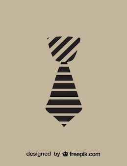 Necktie icon stripes design
