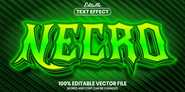 Necro text, font style editable text effect