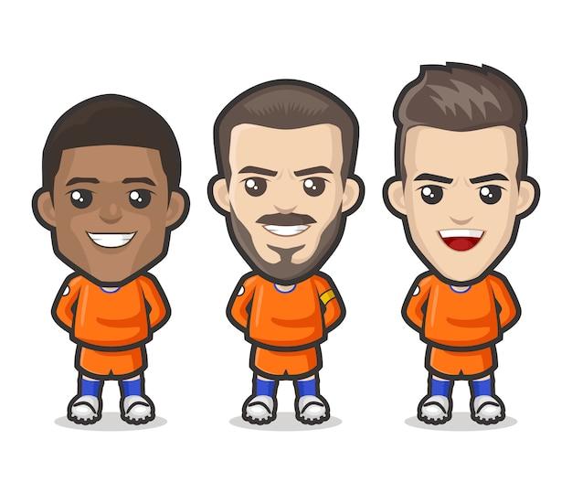 オランダのサッカー選手チームデザイン