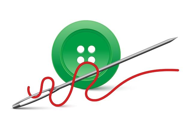 針とボタンは白で隔離されています。