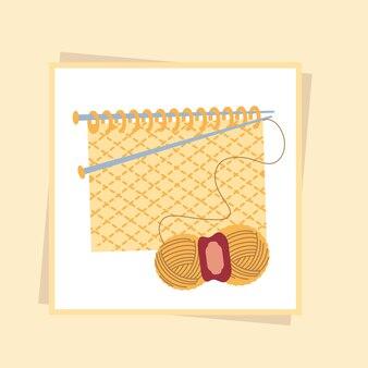 Needles knitting yarn